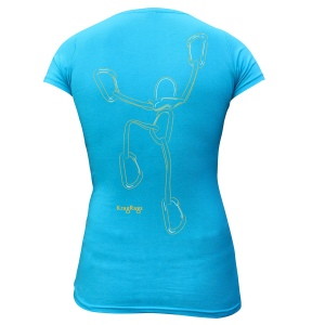 "KragRags® ""Climbing Pro""™ slim fit T, Glacial Lake. Click image to enlarge."