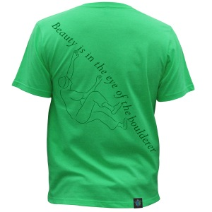 """Climber Change Boulderer"", Green, Unisex. Click image to enlarge."
