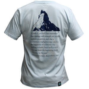 """Climber Change - Matterhorn"" Light Blue, Unisex. Click image to enlarge."