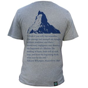 """Climber Change - Matterhorn"", Light Granite, Unisex. Click image to enlarge."