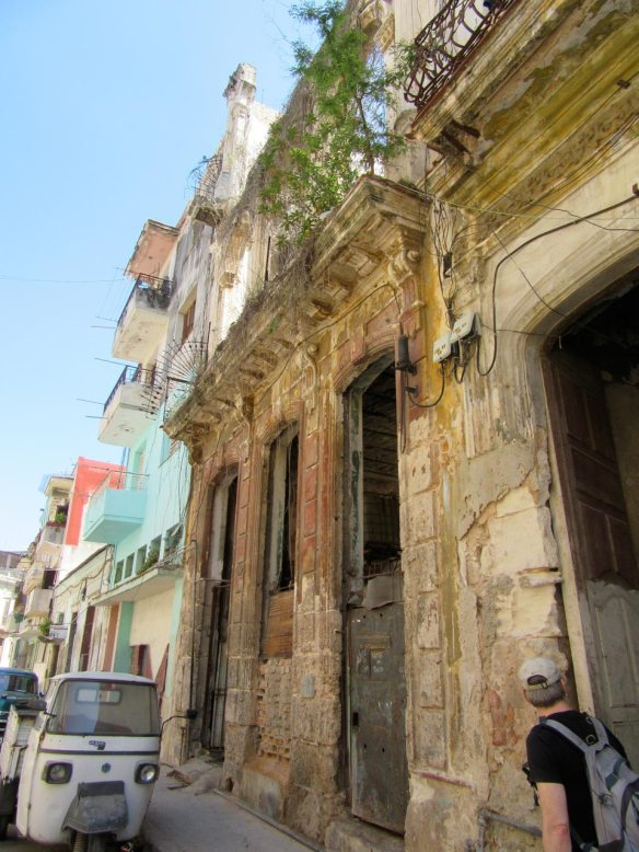 A dozen or more families live in this dilapidated building in Havana.